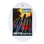 United We Win Oval Ornament