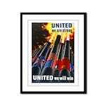 United We Win Framed Panel Print