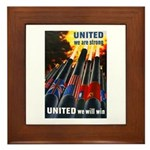 United We Win Framed Tile