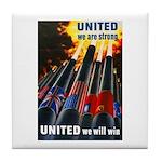 United We Win Tile Coaster
