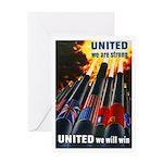 United We Win Greeting Card