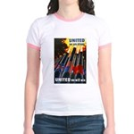 United We Win (Front) Jr. Ringer T-Shirt