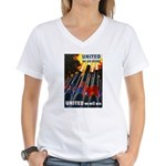 United We Win (Front) Women's V-Neck T-Shirt