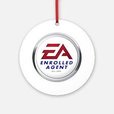 EA Round Ornament
