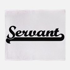 Servant Artistic Job Design Throw Blanket