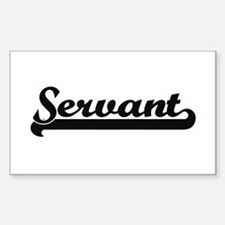 Servant Artistic Job Design Decal
