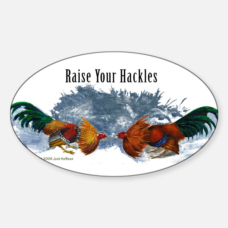 Cute Rooster Sticker (Oval)