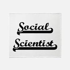 Social Scientist Artistic Job Design Throw Blanket