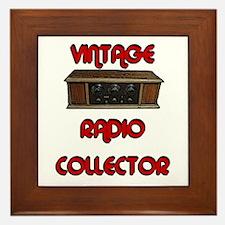 Vintage Radio Collector Framed Tile
