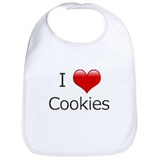 I Love Cookies Bib