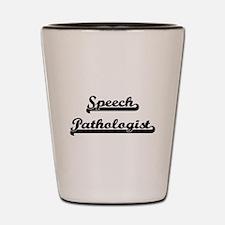 Speech Pathologist Artistic Job Design Shot Glass