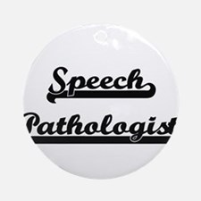 Speech Pathologist Artistic Job D Ornament (Round)