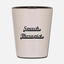 Speech Therapist Artistic Job Design Shot Glass