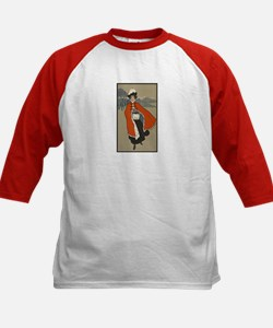 Woman in Christmas Cape Tee