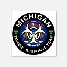 "Funny Zombie response team Square Sticker 3"" x 3"""