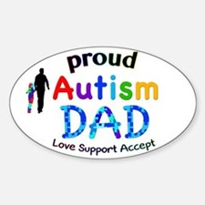 Proud Autism Dad Sticker (Oval)
