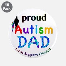 "Proud Autism Dad 3.5"" Button (10 pack)"