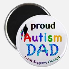 "Proud Autism Dad 2.25"" Magnet (10 pack)"