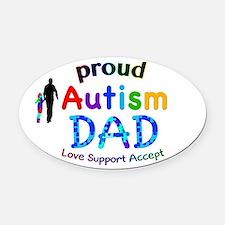 Proud Autism Dad Oval Car Magnet
