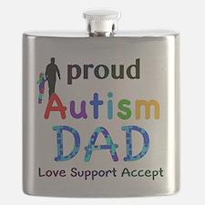 Proud Autism Dad Flask