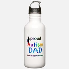 Proud Autism Dad Water Bottle