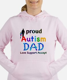 Proud Autism Dad Women's Hooded Sweatshirt