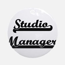 Studio Manager Artistic Job Desig Ornament (Round)
