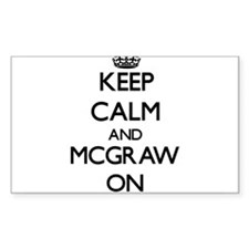 Keep Calm and Mcgraw ON Decal