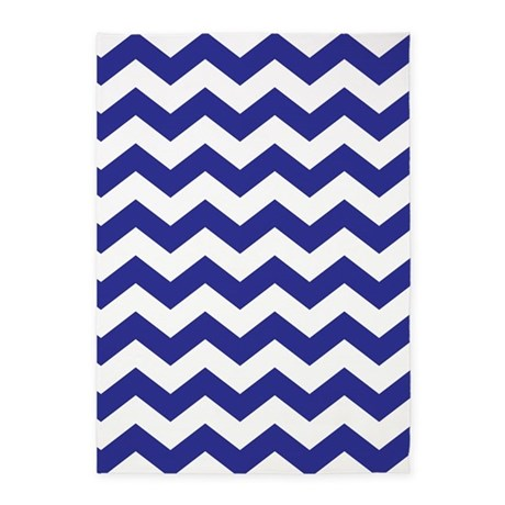 Royal Blue Chevron 5u0027x7u0027Area Rug