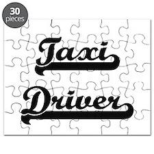 Taxi Driver Artistic Job Design Puzzle
