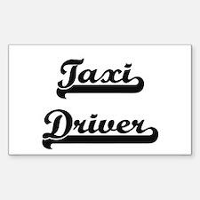 Taxi Driver Artistic Job Design Decal