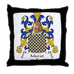 Murat Family Crest Throw Pillow