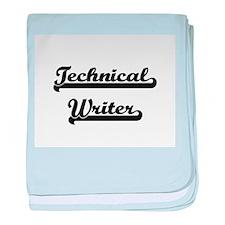 Technical Writer Artistic Job Design baby blanket