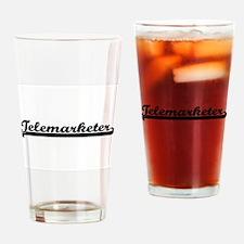 Telemarketer Artistic Job Design Drinking Glass