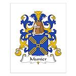 Munier Family Crest Small Poster