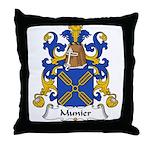 Munier Family Crest Throw Pillow