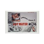 Comic Hot Water Hog Rectangle Magnet (10 pack)
