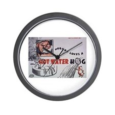 Comic Hot Water Hog Wall Clock