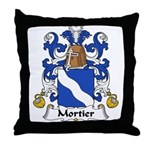 Mortier Family Crest  Throw Pillow