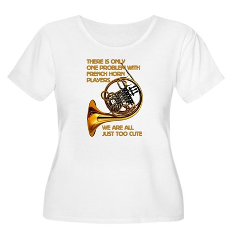 French Horn Cutie Women's Plus Size Scoop Neck T-S