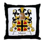 Moret Family Crest Throw Pillow