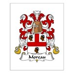 Moreau Family Crest Small Poster