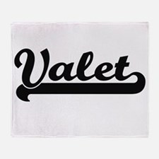 Valet Artistic Job Design Throw Blanket