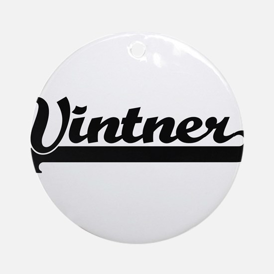 Vintner Artistic Job Design Ornament (Round)