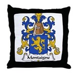 Montaigne Family Crest Throw Pillow