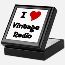 I Love (Heart) Vintage Radio Keepsake Box