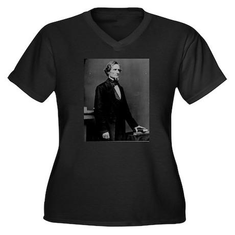 Jefferson Davis (C) Women's Plus Size V-Neck Dark