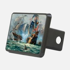Battle Ships At War Painting Hitch Cover