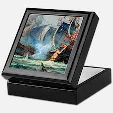 Battle Ships At War Painting Keepsake Box