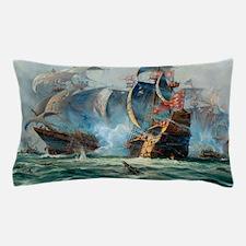 Battle Ships At War Painting Pillow Case